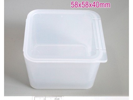 Storage box 58x58x40mm - cutie plastic transparent, 1buc.