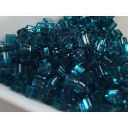 Toho TG08-7BD, Transparent Capri Blue, margele triunghi 10g