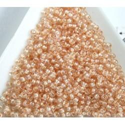 Toho R11-794, Inside-Color Rainbow Crystal/Apricot Lined, 10g