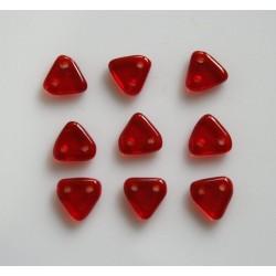 Margele sticla Cehia triunghi tip legatura 6mm (3 grame)