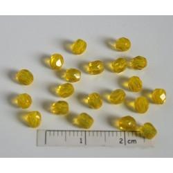 CE-04-341 margele sticla Cehia firepolish 4mm, culoarea galben deschis transparent (100 buc)