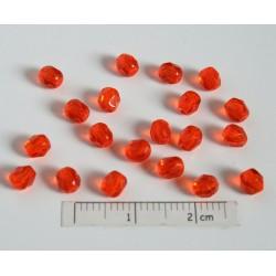 CE-04-343 margele sticla Cehia firepolish 4mm, culoarea orange deschis transparent (100 buc)