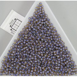 Toho R11-926, Inside-Color Lt Topaz/Opaque Lavender Lined, 10g