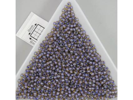 Toho R11-926, Inside-Color Lt Topaz/Opaque Lavender Lined, 10g