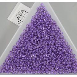 Toho R11-935, Inside-Color Crystal/Wisteria Lined, 10g