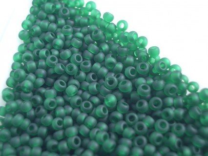 Toho R11-939F, Transparent-Frosted Green Emerald, 10g