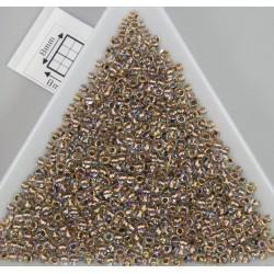 Toho R11-994, Gold-Lined Rainbow Crystal, 10g
