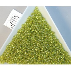 Toho R11-2024, Silver-Lined Rainbow Lime Green, 10g