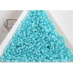 Toho R11-2117, Silver-Lined Milky Aqua, 10g