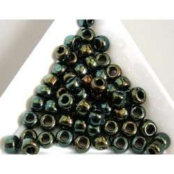 Toho R3-84, Metallic Iris Green/Brown, 10g