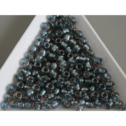 Toho R6-288, Inside-Color Crystal/Metallic Blue Lined, 10g
