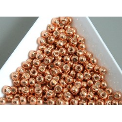 Toho R6-551, Galvanized Rose Gold, 10g