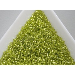 Toho R15-24, Silver-Lined Lime Green, 5g