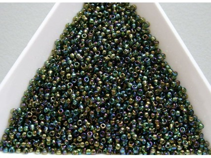 Toho R15-180, Trans-Rainbow Olivine, 5g