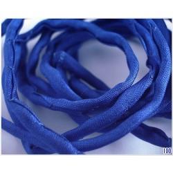 Snur matase naturala Ø3mm, 110cm, [100] culoare albastru inchis , dark blue ( 1 bucata )