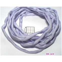 Snur matase naturala Ø3mm, 110cm, [110] culoare lila , lilac ( 1 bucata )