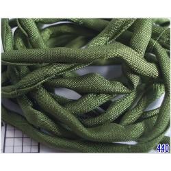Snur matase naturala Ø3mm, 110cm, [440] culoare verde masliniu , olive ( 1 bucata )