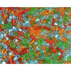 TX28 mix margele Toho, Haiku - orange/green/blue, 10g