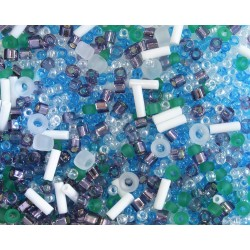 TX29 mix margele Toho, Fuji - white/green/blue/purple, 10g