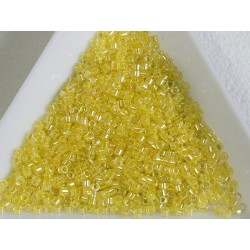 Delica DB53 - Lt Yellow Lined Crystal AB - margele Miyuki Delica 11/0, 5g