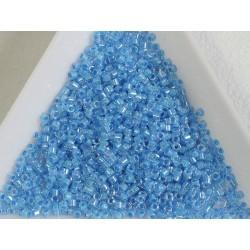 Delica DB76 - Lt Blue Lined Crystal AB - margele Miyuki Delica 11/0, 5g