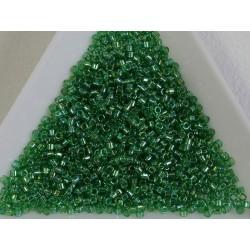 Delica DB152 - Transparent Green AB - margele Miyuki Delica11 - 5g