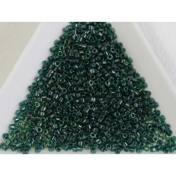 Delica DB275 - Lined Emerald Luster - margele Miyuki Delica11 - 5g