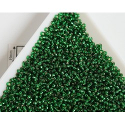 Toho R15-36, Silver-Lined Green Emerald, 5g
