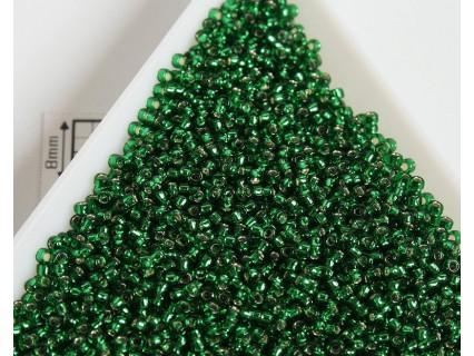 Toho R15-36, Silver-Lined Green Emerald, 5g