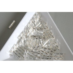 TW03-21, margele Toho tub rasucit 9mm, Silver-Lined Crystal, 10g