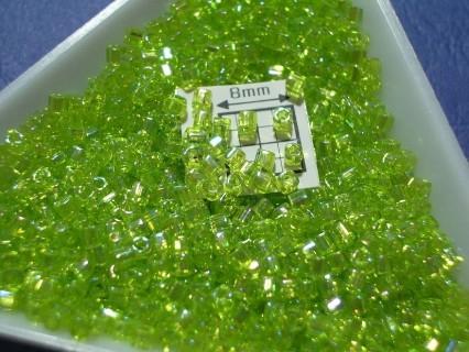 C01-164, margele Toho cub 1.5mm, Trans-Rainbow Lime Green, 5g