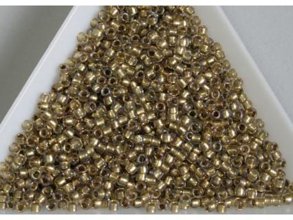 LH11-262 Inside-Color Crystal/Gold Lined, margele TOHO Takumi 11/0, 5g