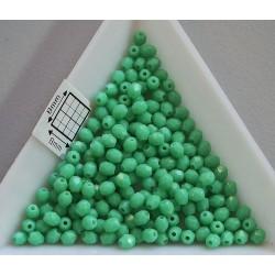 FP 3 Green Turquoise - margele firepolish 3mm, culoarea green turqoise (50 buc) CE-3-14