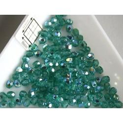 FP 3 - margele sticla firepolish 3mm, culoarea emerald AB (100 buc) CE-03-217