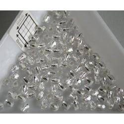 FP 3 - margele sticla firepolish 3mm, culoarea crystal silver lined (100 buc) CE-03-231