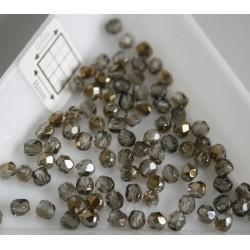FP 3 - margele sticla firepolish 3mm, culoarea bronze iris black diamond (100 buc) CE-03-234