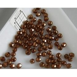 FP 3 - margele sticla firepolish 3mm, culoarea topaz bronze (100 buc) CE-03-240