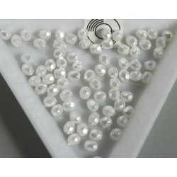 FP 3 - margele firepolish 3mm, culoarea perla alb (50 buc) CE-03-244