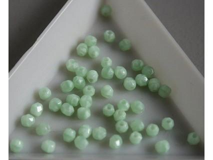 FP 3 - margele sticla firepolish 3mm, culoarea opaque azur turquoise (100 buc) CE-03-267