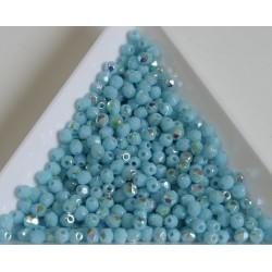FP 3 - margele firepolish 3mm, culoarea sky blue coral AB (100 buc) CE-03-284