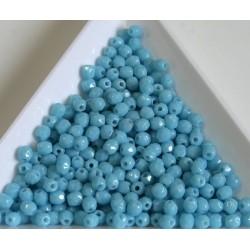 FP 3 - margele firepolish 3mm, culoarea blue turquoise (100 buc) CE-03-285