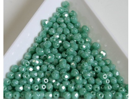 FP 3 - margele firepolish 3mm, culoarea luster turquoise (100 buc) CE-03-286