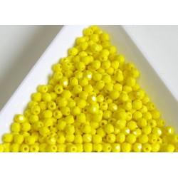 FP 3 - margele firepolish 3mm, culoarea opaque yellow (100 buc) CE-03-291