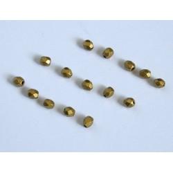 FP 3 - margele firepolish 3mm, culoarea mat metalic aztec gold (100 buc) CE-03-295