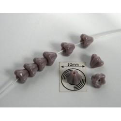 Clopotei 4 x 6 mm - margele sticla cehia - opaque lt. purple (10 buc) CE60.