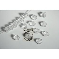 Clopotei 4 x 6 mm - margele sticla Cehia - culoare cristal clar (10 buc) b04