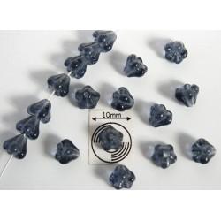 Clopotei 4 x 6 mm - margele sticla Cehia - culoare montana blue (10 buc) b05