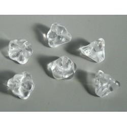 Clopotei 8 x10mm - margele sticla presata Cehia - culoare cristal clar (4 buc) b34