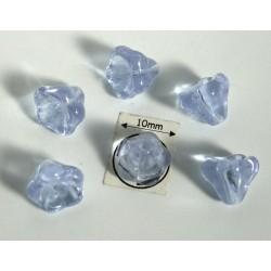 Clopotei 8 x10mm - margele sticla presata Cehia - culoare alexandrit/efect alexandrit (4 buc) CE84.