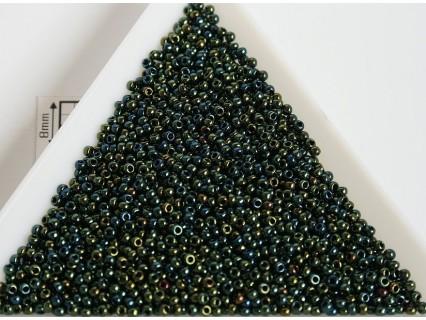 Toho R15-84, Metallic Iris Green/Brown, 5g